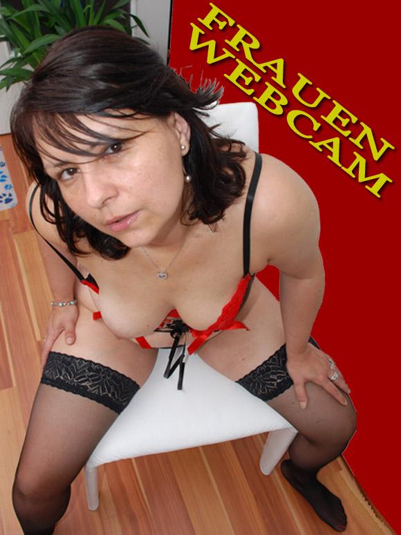 Frau aus dem Webcam Chat